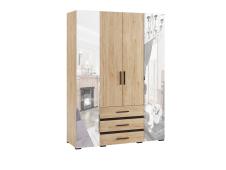 Шкаф 4-х створчатый Модена МШ-24 гикори