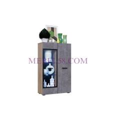 Шкаф со стеклом Ненси NEW бетон