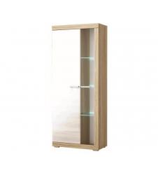 Шкаф витрина Соната (белый глянец)