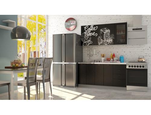Кухня София Кофе тайм черный черная шагрень