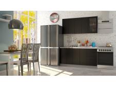 Кухня София черная шагрень