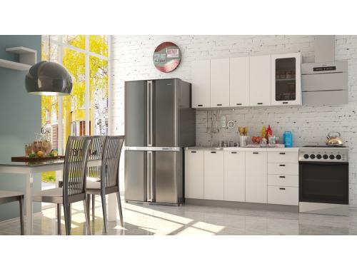 Кухня София белая шагрень