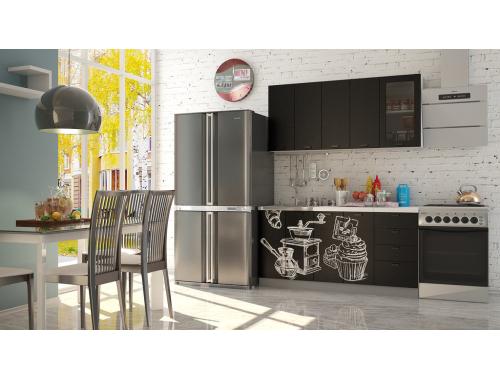 Кухня София черная шагрень Кофе тайм черный