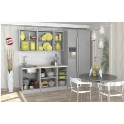 Кухня София белая черная шагрень