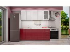 Кухня София белая/красная 2.0 метра