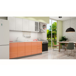 Кухня София белая/оранж 2.0 метра