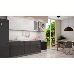 Кухня София белая/черная 2.0 метра