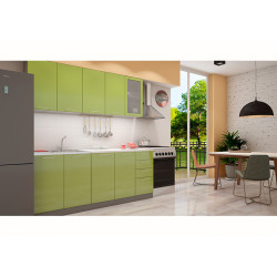 Кухня София зеленая 2.0 метра
