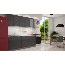 Кухня София черная 2.0 метра