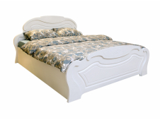 Кровать Александрина белый глянец