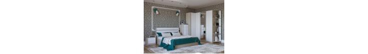 Модульная спальня Верона белый глянец