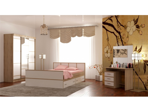 Спальня Сакура сонома