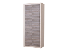 Шкаф 2С Октава платяной дуб серый