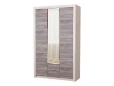 Шкаф 3С2Я Октава с зеркалом дуб серый