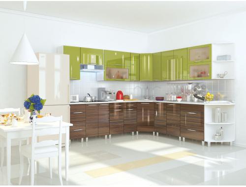 Кухня Танго олива эбеневое дерево
