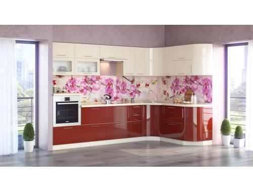 Кухня Танго бордо/ваниль