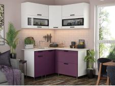 Кухня Техно new 1,4 x 1,4 м белый софт/слива софт