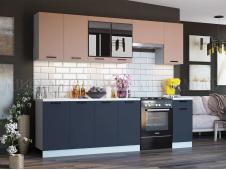 Кухня Техно new 2,6 м пудра софт/ультрамарин софт