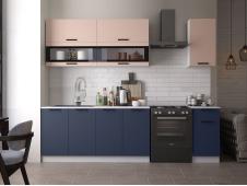Кухня Техно new 2.0 м пудра софт/ультрамарин софт