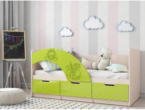 Кровать Юниор-3 лайм