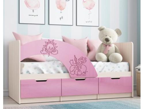 Кровать Юниор-3 розовый