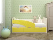Кровать Бабочки желтые