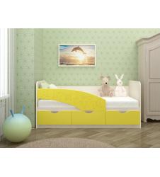 Кровать Бабочки желтая