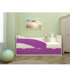 Кровать Бабочки сиреневая