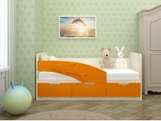 Кровать Дельфин оранжевый