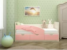 Кровать Дельфин розовый