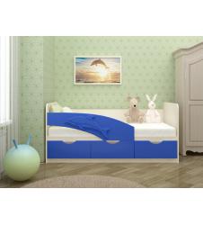Кровать Дельфин синий