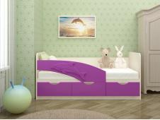 Кровать Дельфин сиреневый
