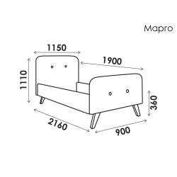Кровать Марго 0,9