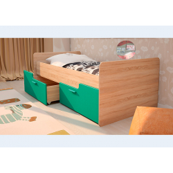 Кровать Умка бирюза