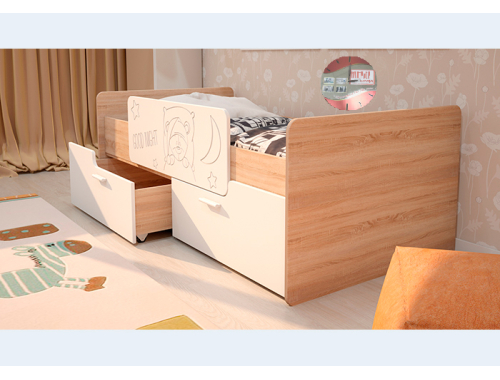 Кровать Умка белая с ограничителем