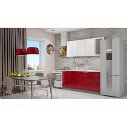 Кухня София белая/красная 1.8 метра