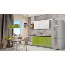 Кухня София белая/зеленая 1.8 метра