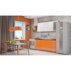 Кухня София белая/оранж 1.8 метра