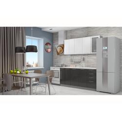 Кухня София белая/черная 1.8 метра