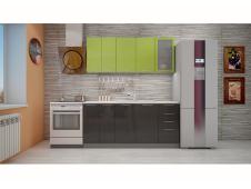 Кухня София зеленая/черная 1.8 метра