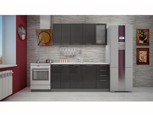 Кухня София черная 1.8 метра
