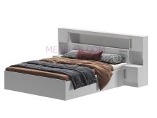 Кровать Бася с надстройкой белый