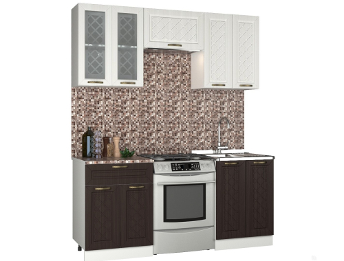 Кухня Агава П 1.8 м комбинированная