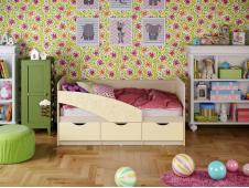 Кровать Бабочки ваниль
