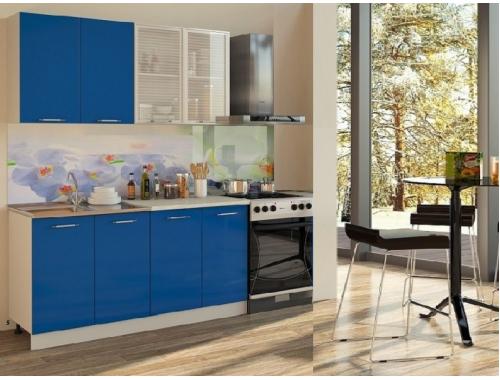 Кухня Катя (синяя) 1.6 метра