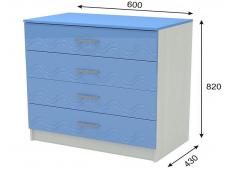 Комод Юниор-2 голубой