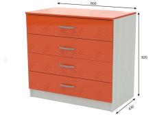 Комод Юниор-2 оранжевый