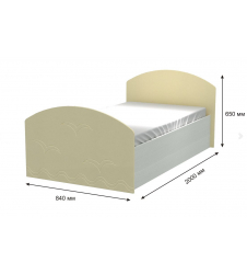 Кровать Юниор-2 ваниль
