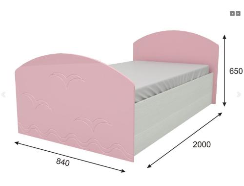 Кровать Юниор-2 розовая