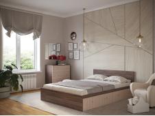 Кровать Ронда с ящиками ясень